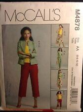 Pattern McCall's M4878, miss/petite jacket, top, skirt, pants 6-12