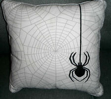 "HALLOWEEN Home Decor All over Spider Webs w/ Spider Throw Pillow 16""x 16"""