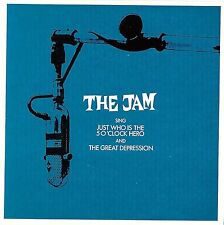 THE JAM - JUST WHO IS THE 5 O'CLOCK HERO 2001 UK CD SINGLE REPLICA CARD SLEEVE