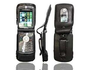 Smartphone Case for Motorola Razr V3 Leather-Case with belt clip Protective Cove
