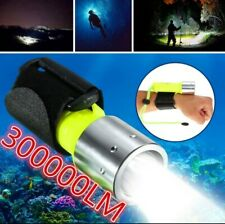 New underwater diving 300000LM XM-L T6 LED waterproof flashlight