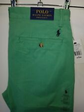 BNWT green chinos POLO by Ralph Lauren - Bedford Stretch Slim W31 L34 RRP £130!!