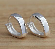 Solid 925 Sterling Silver Huggie Hoop Earrings V-Shape Hoops Earrings Jewellery