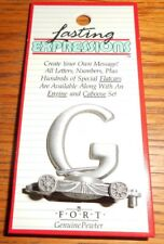 PEWTER LETTER G CAR FORT GIFT LASTING EXPRESSIONS--MADE IN THE USA