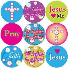 144 CREDO in Gesù 30mm Children's Christian Reward Adesivi, insegnante Chiesa