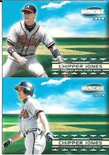 CHIPPER JONES 1999 INVINCIBLE SANDLOT HEROES CARD #'2A, 2B  FREE COMBINED S/H