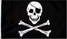 3 X 5 skull and cross bones flag jolly rodger pirate nylon decoration kids toy