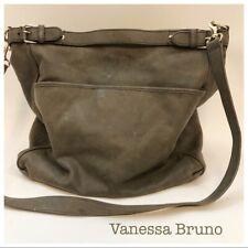 Vanessa Bruno France Pebbled Leather Large Taupe Handbag