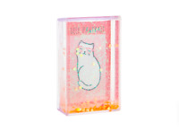 "Sass & Belle Mini Cat Heart Glitter Photo Frame Picture Block 2.5"" x 3""  9x5.5cm"