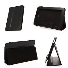 """Faux Leather Case Stand Magnetic Cover for Lenovo 7"""" Ideatab A2207 A2107 Black"""