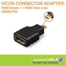 HICON Adattatore HDMI FEMMINA PRESA <-> HDMI Micro maschio spina hdmm-fm