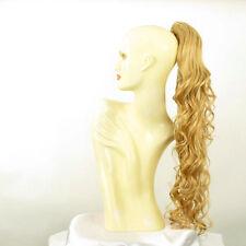 Postiche queue de cheval femme longue ondulée 65 cm blond clair doré 10 en lg26