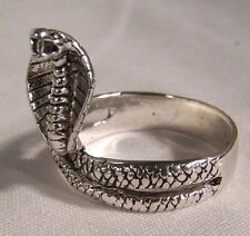COBRA SNAKE BIKER RING BR70 HEAVY silver NEW snakes novelty fashion jewelry men
