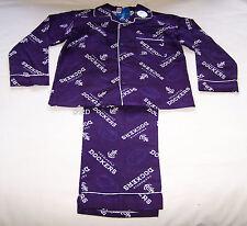 Fremantle Dockers AFL Boys Purple Flannel Pyjama Set Size 10 New