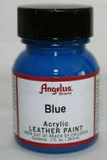 Angelus Acrylic Leather Paint Water Resistant Flexible in a Blue Color 1 Ounce