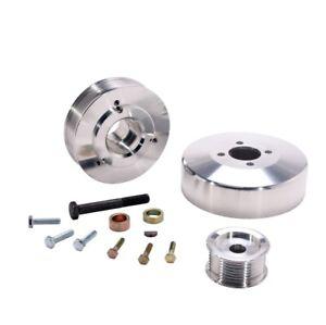 BBK 15550 Underdrive Performance Pulley Kit CNC Machined Aluminum 8-Rib NEW