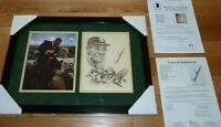 BECKETT-JSA VINCE LOMBARDI GREEN BAY PACKERS SIGNED 8X10 FRAMED PHOTO-LITHOGRAPH