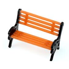 10pcs Plastic Orange Model Benches Platform Street Park Scenery 1 200 Scale
