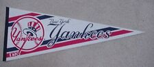 OLD 1980s NEW YORK N Y YANKEES FULL SIZE LOGO PENNANT Unsold Stock