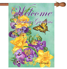 Toland Frolic in the Flowers Welcome to Hershey Gardens 28 x 40 House Flag
