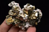 70g Natural Pyrite Cube Quartz Crystal Rare Mineral Specimen Jiangxi, China