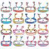 Women Boho Ethnic Handmade Bracelet String Cord Woven Braid Friendship Bangle