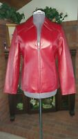 Worthington Red Leather Jacket Womens Size Small