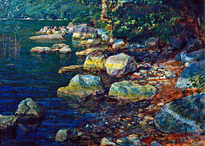 Water and Stones near Palazzuola A1+ by Alexander Ivanov Quality Canvas Print
