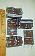 5 pc lot  CAPACITORS 200 VOLT 1000 uF (M) SNAP IN -5 pc