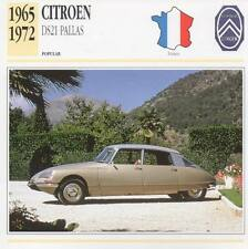 1965-1972 CITROEN DS21 PALLAS Classic Car Photograph / Information Maxi Card