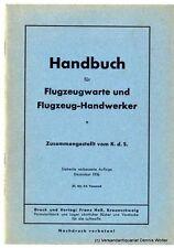 Handbuch für Flugzeugwarte und Flugzeug-Handwerker 1936