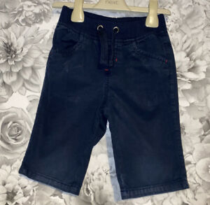 Boys Age 4-5 Years - Pull On Navy Soft Waistband Shorts