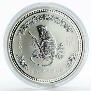 Australia 10 dollars Year of the Monkey Lunar Series I silver coin 2004