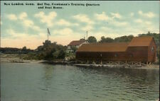 New London CT Yale Boat Houses c1910 Postcard