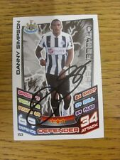 2012/2013 Autograph: Newcastle United - Simpson, Danny [Hand Signed 'Topps Match