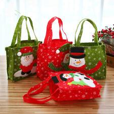 Sac Sachet Pochette Décor Bonbon Père Noël Maison Magasin Enfant Cadeau 17x17cm
