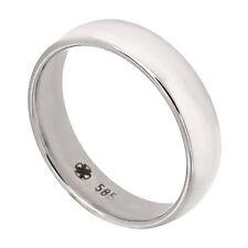Echte Edelmetall-Ringe ohne Steine im Band-Stil aus Weißgold für Damen