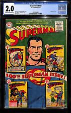 Superman #100 CGC 2.0 DC 1955 Aniversary Issue! Justice League! JLA! G12 1 cm