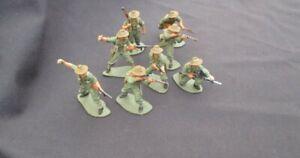airfix australian infantry ww2 1/32 54mm  painted  like britains conte tssd