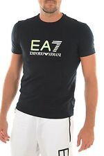EMPORIO ARMANI EA7 Large Raised Rubber Logo Dark Blue Tee Sizes S-XXL BNWT