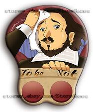 3D Mouse Pad William Shakespeare Wrist Anime Oppai Buttons Ergonomic Memes