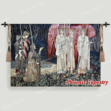 """William Morris Medieval Holy Grail Wall Tapestry The Achievement I, 55""""x38"""", UK"""