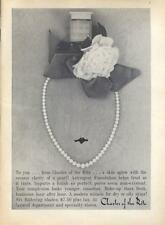 1960 Charles of the Ritz PRINT AD Makeup string of pearls