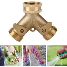 Brass Garden 2-Way Tap Hose Connector Y-Type Water Splitter Drip Irrigation Us