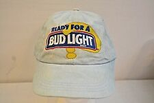 Ready for a Bud Light?  Faded Blue Baseball Hat Elastic Stretch Band
