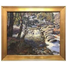 Rare Signed Frederick Sexton New England Oil Painting Art
