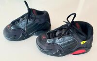 "Nike Air Jordan 14 XIV "" Last Shot "" Retro TD Toddler Black Red Size 7C"