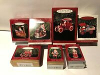 Hallmark Keepsake Ornament Lot - 7 Santa Ornaments