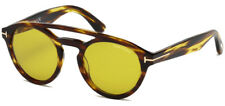 Tom Ford Clint Men's Vintage Round Sunglasses FT0537 48E - Made In Italy