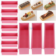 10PCS L Rectangle Brick Soap Toast Bread Loaf Cake Silicone Mold Bakeware 1.2L